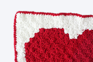 C2C Heart Baby Blanket - Crochet Pattern