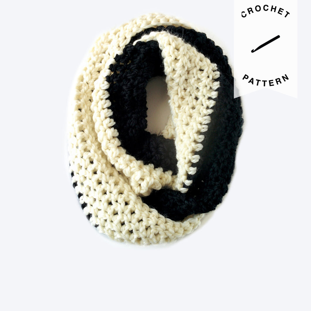 Cookies & Cream Scarf - Crochet Pattern