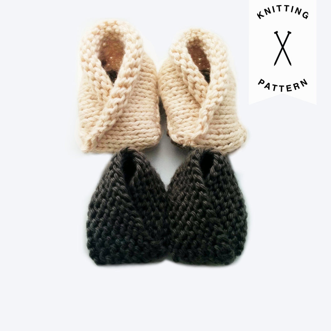 Crossover Booties - Knitting Pattern