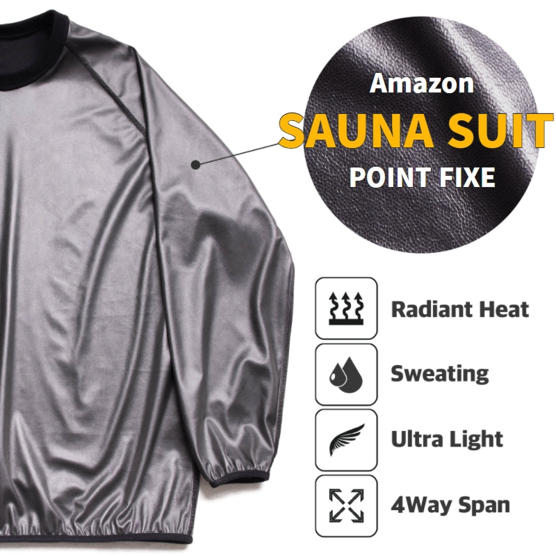 POINT FIXE Sauna Suit for Men and Women, Sweat Suit Gym Workout Weight Loss Slim Fitness Clothes