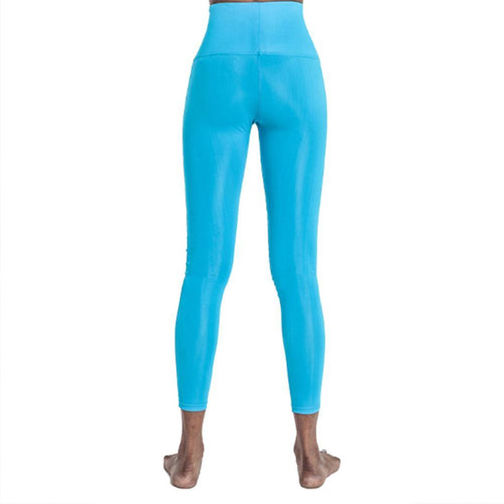 POINT FIXE R Blue Women's Yoga Leggings - MUMUSK