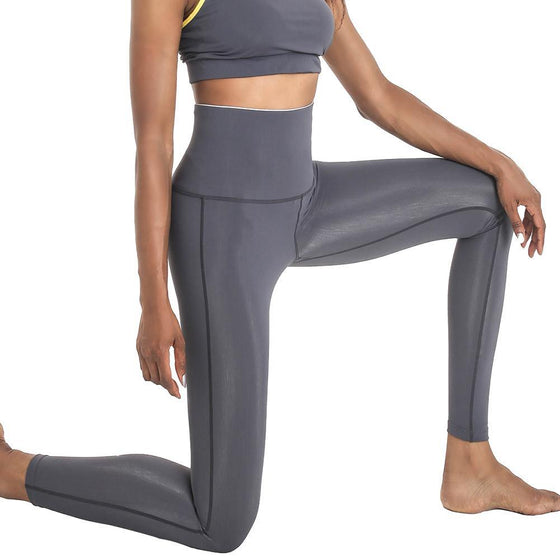POINT FIXE R Gray Women's Yoga Leggings