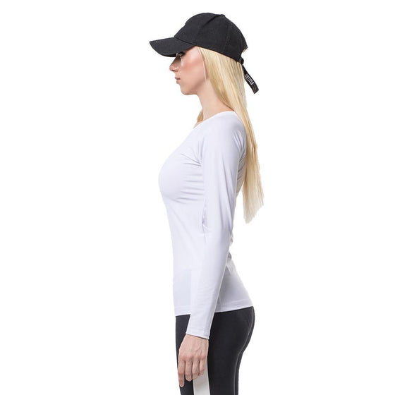 POINT FIXE Sweat Long Sleeve White Yoga Sweatshirt