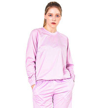 POINT FIXE Women Sauna Suits Crew Neck Long Sleeve Lavender