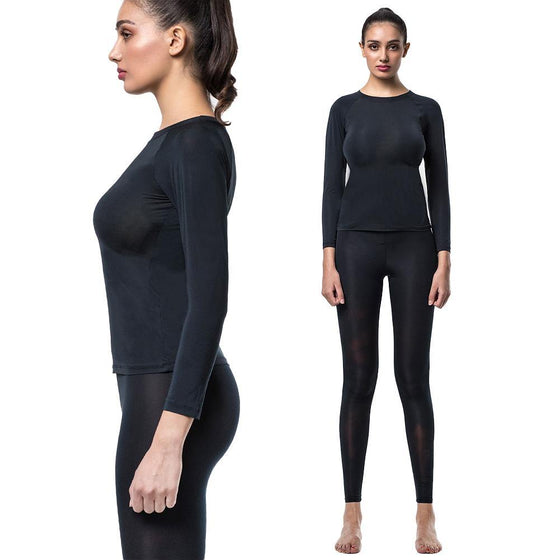 UNDERSKIN Women's Inner-Wear Set Black - MUMUSK