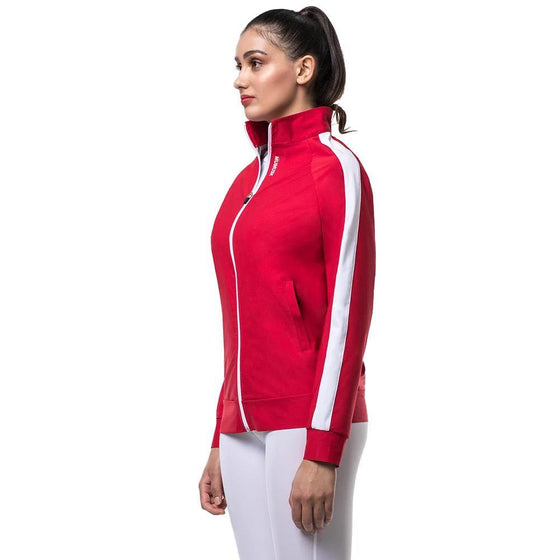 MUMUSK Sauna Suit Teen Warm-Up Jacket Red - MUMUSK