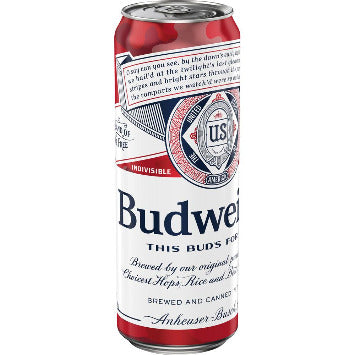 Budweiser® Beer, 25 fl. oz. Can - Earth's Basket