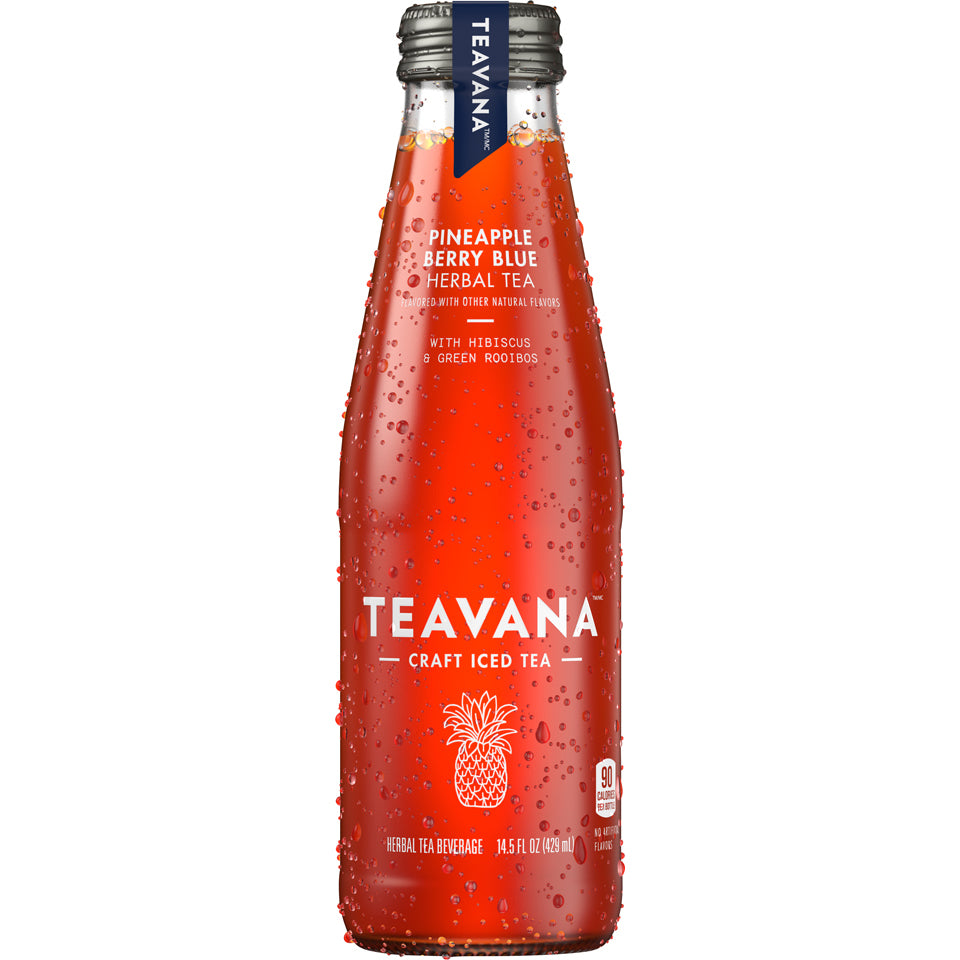 Teavana Pineapple Berry Blue Herbal Tea 14.5oz Bottle - Earth's Basket