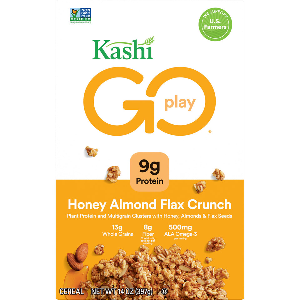 Kashi  Go Lean Organic Cereal -- Honey Almond Flax Cereal - Earth's Basket