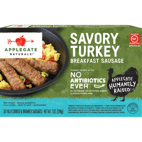 Applegate Naturals® Savory Turkey Breakfast Sausage 7 oz. Box - Earth's Basket