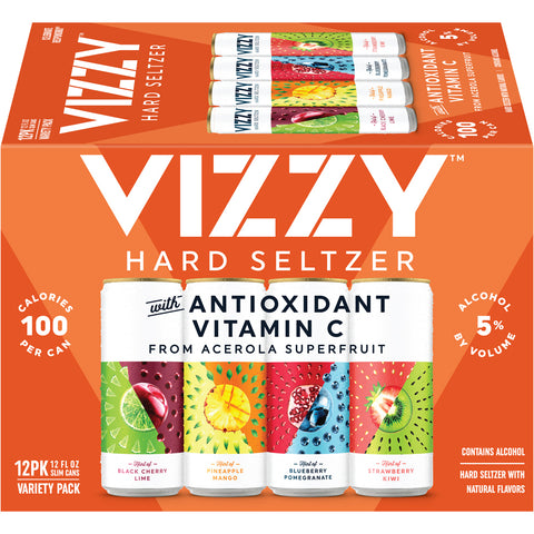 Vizzy Hard Seltzer Variety Pack, 12 Pack, 12 fl oz Cans - Earth's Basket