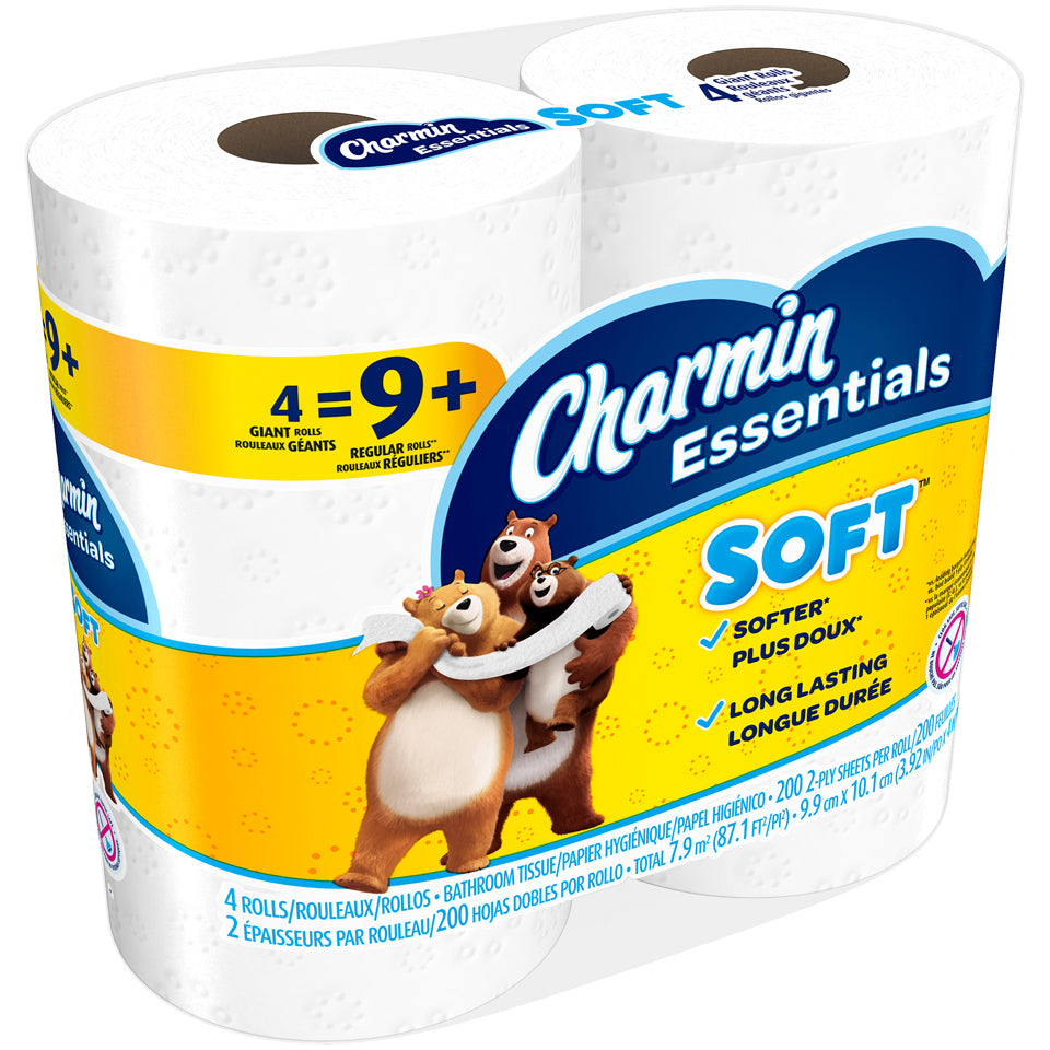 Charmin Essentials Soft Toilet Paper 4 Giant Rolls