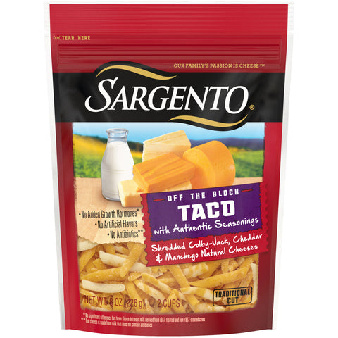 Sargento Taco Cheese 8 Oz - Earth's Basket
