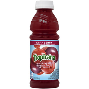 Tropicana Juice Beverage Cranberry Flavored 15.2 Fl Oz Bottle - Earth's Basket