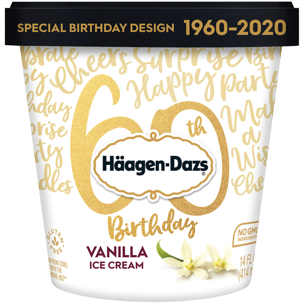 Haagen-Dazs Ice Cream - 14 oz -- Vanilla - Earth's Basket