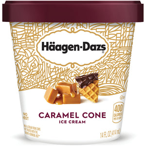 Haagen-Dazs Ice Cream - 14 oz -- Caramel Cone - Earth's Basket