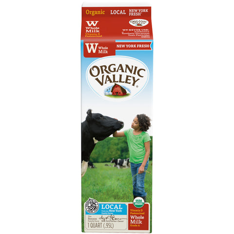 Organic Valley Milk -- Whole Milk 1 Quart - Earth's Basket