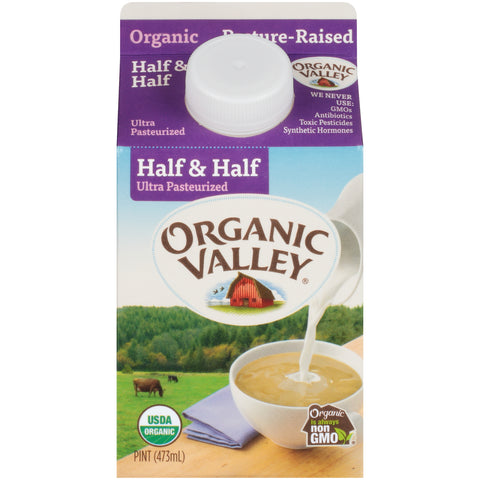 Organic Valley Milk -- Half & Half Pint - Earth's Basket