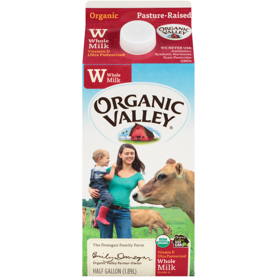 Organic Valley Milk -- Whole Milk Half Gallon - Earth's Basket