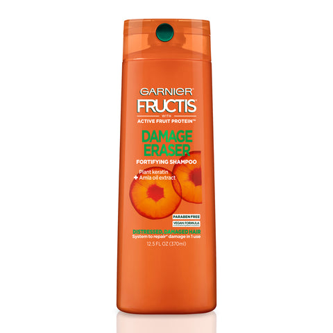 Garnier Fructis Damage Eraser Fortifying Shampoo, for Damaged Hair, Paraben Free, 12.5 fl. oz.