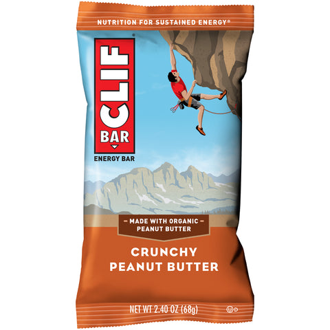 Cliff Bar 2.4 Oz -- 6 Pack -- Crunchy Peanut Butter - Earth's Basket