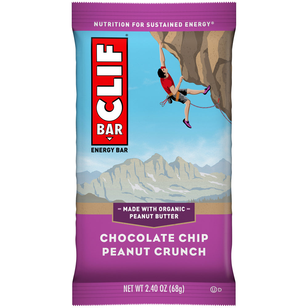 Cliff Bar 2.4 Oz -- 6 Pack -- Chocolate Chip Peanut Crunch - Earth's Basket