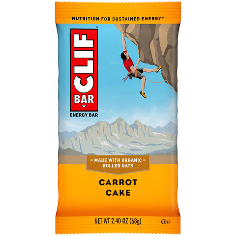 Cliff Bar 2.4 Oz -- 6 Pack -- Carrot Cake - Earth's Basket