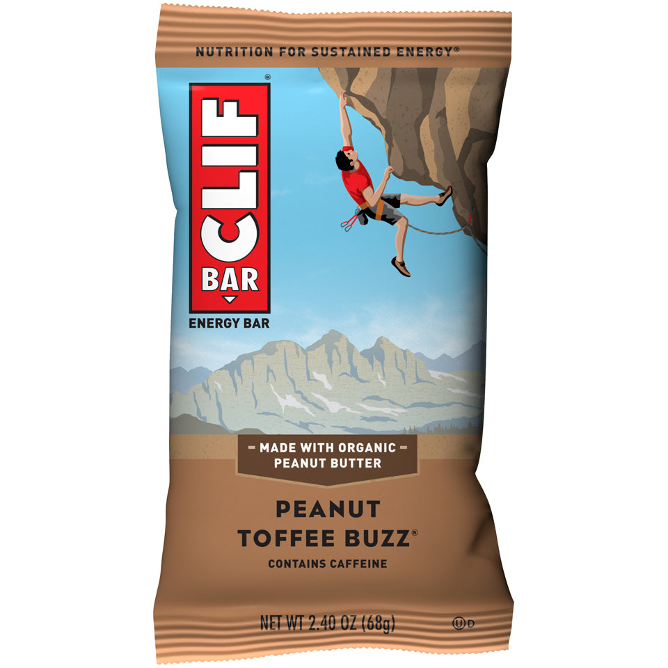 Cliff Bar 2.4 Oz -- 6 Pack -- Peanut Toffee Buzz - Earth's Basket