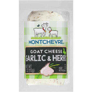 Montchevre Cheese -- Goat Cheese Garlic & Herbs 4 oz - Earth's Basket