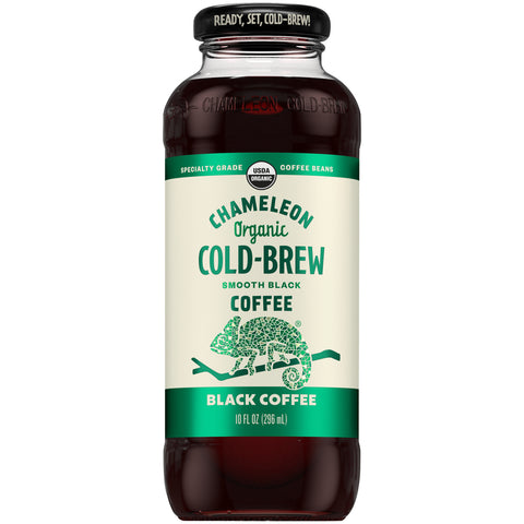 Chameleon Cold Brew Ready-to-Drink Black Coffee 10oz Bottle - Earth's Basket