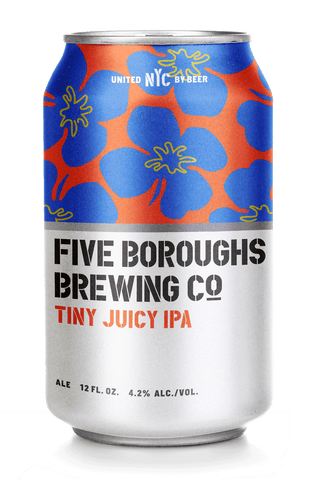 Five Boroughs Brewing Tiny Juicy IPA 6x 12oz Cans - Earth's Basket