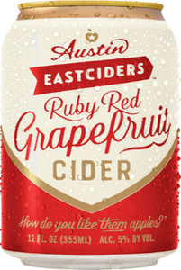 Austin Eastciders Ruby Red Grapefruit Cider - Earth's Basket