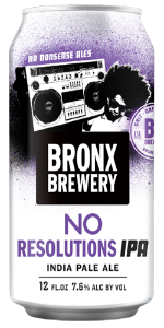 Bronx Brewery No Resolutions IPA 6x 12oz Can - Earth's Basket
