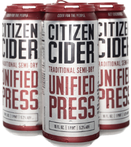 Citizen Cider Unified Press 4x 16oz Cans - Earth's Basket