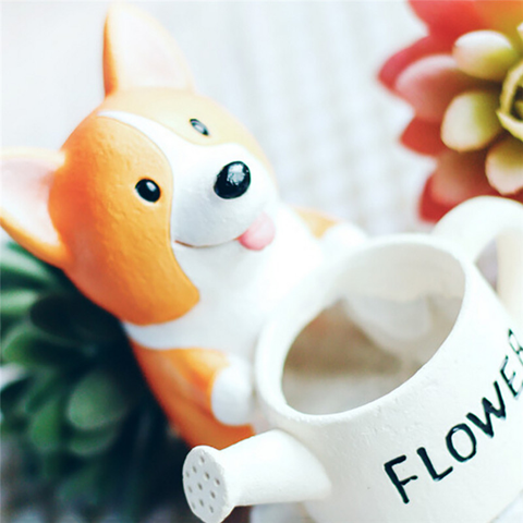 corgi-flower-pot-hand-painted