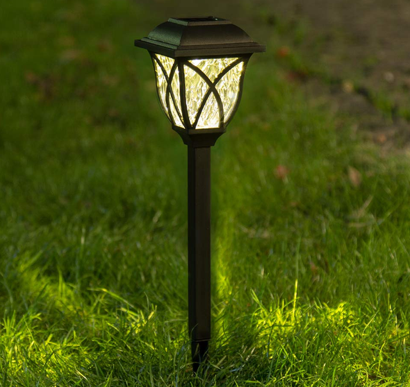 6 Pcs Solar Powered LED Garden Lamps