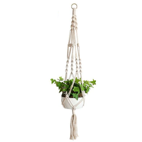 Vintage Rope Braided Flowerpot Plant Holder