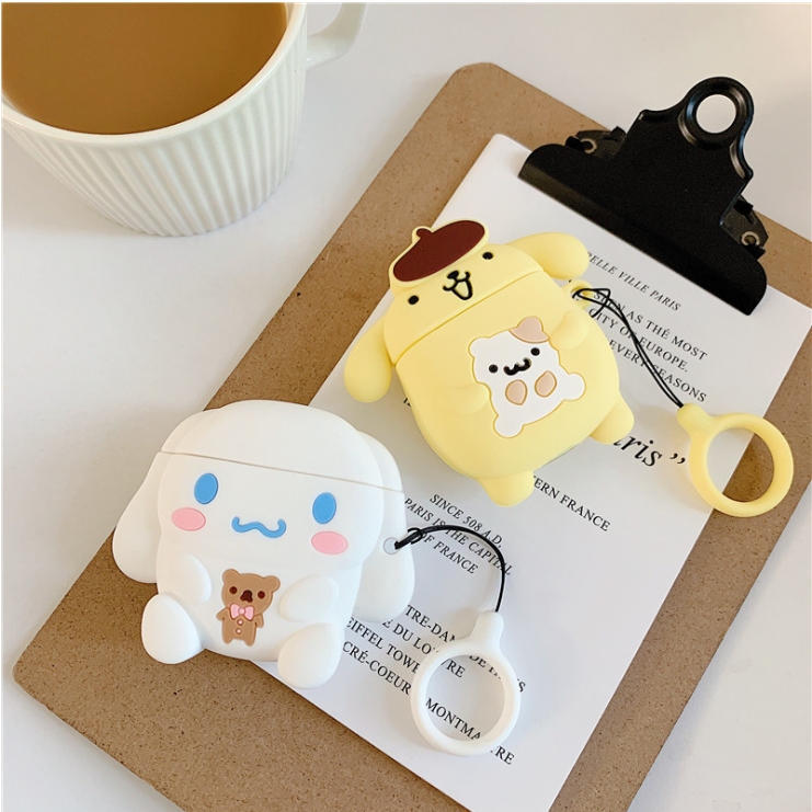 Cute Dog Airpods Pro Protective Case With Key Ring Luluphone