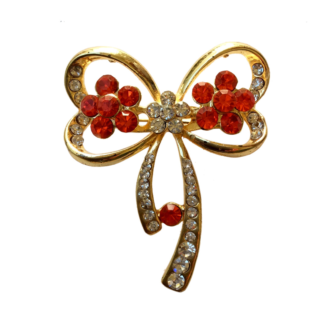Floral Bow Brooch (Golden)