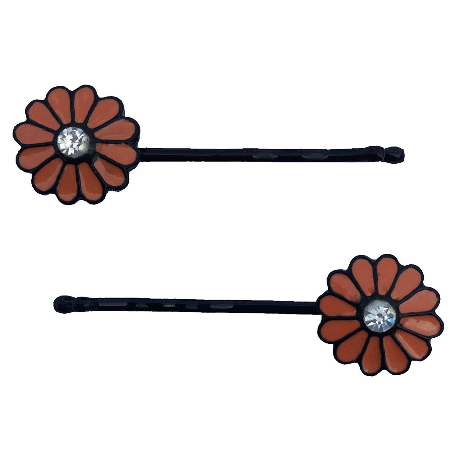 Orange Happy Flower Bobby Pin