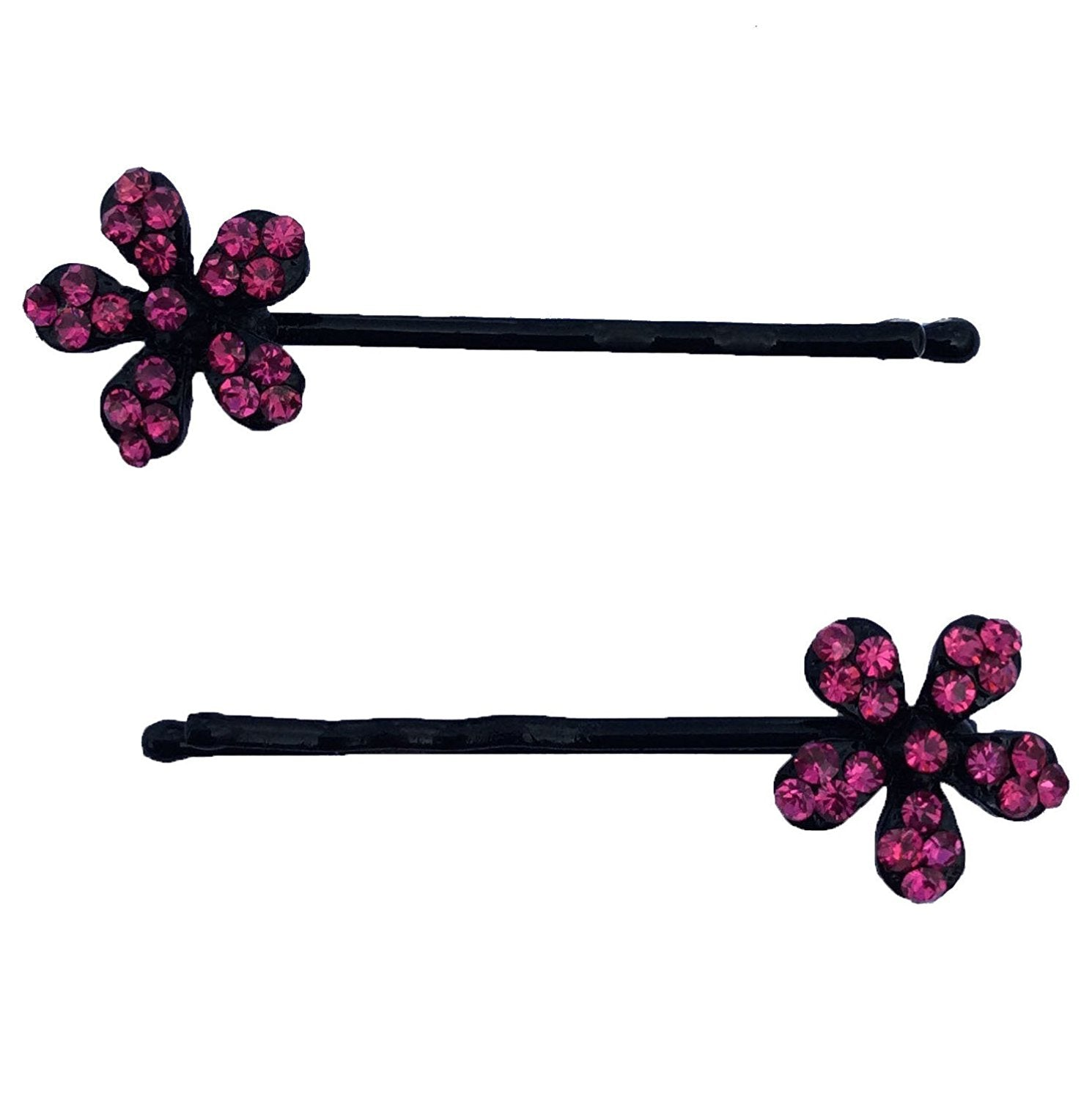 Rhinestone Flower Bobby Hair Pin