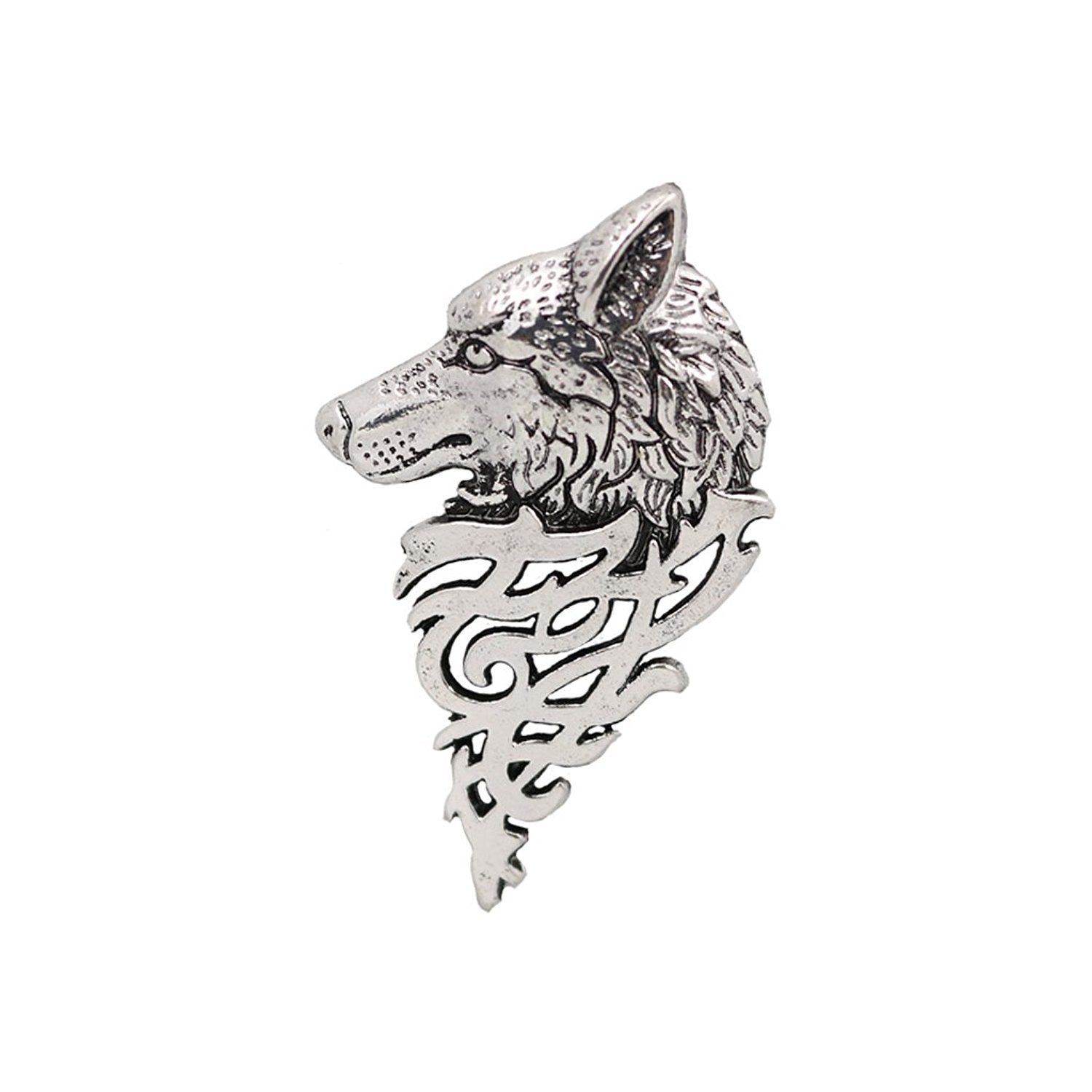 Game of Thrones Stark Wolf Brooch (Rhodium)