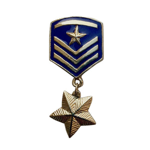 Star Badge Brooch (Blue)