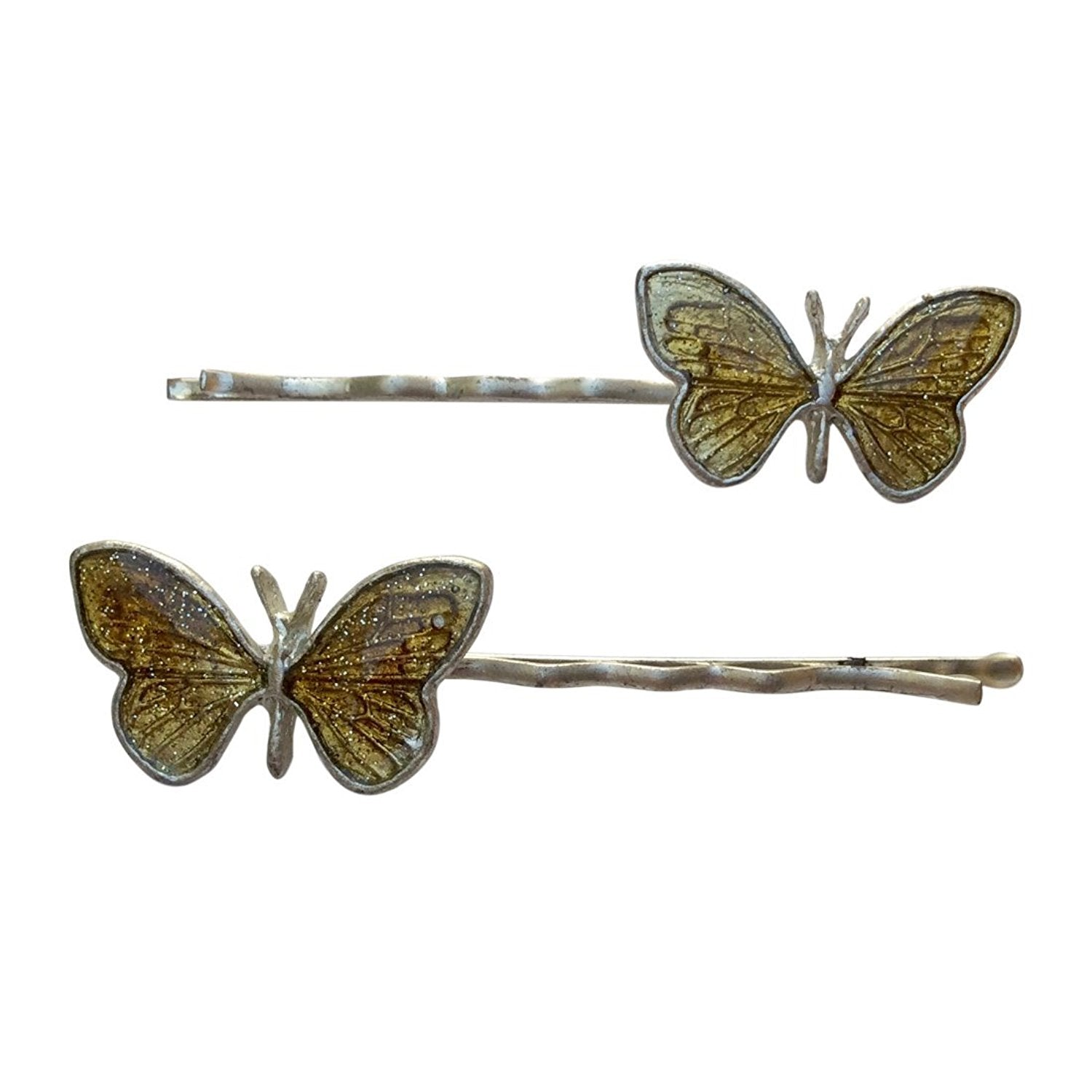 Enamel Butterfly Bobby Pin (Yellow)