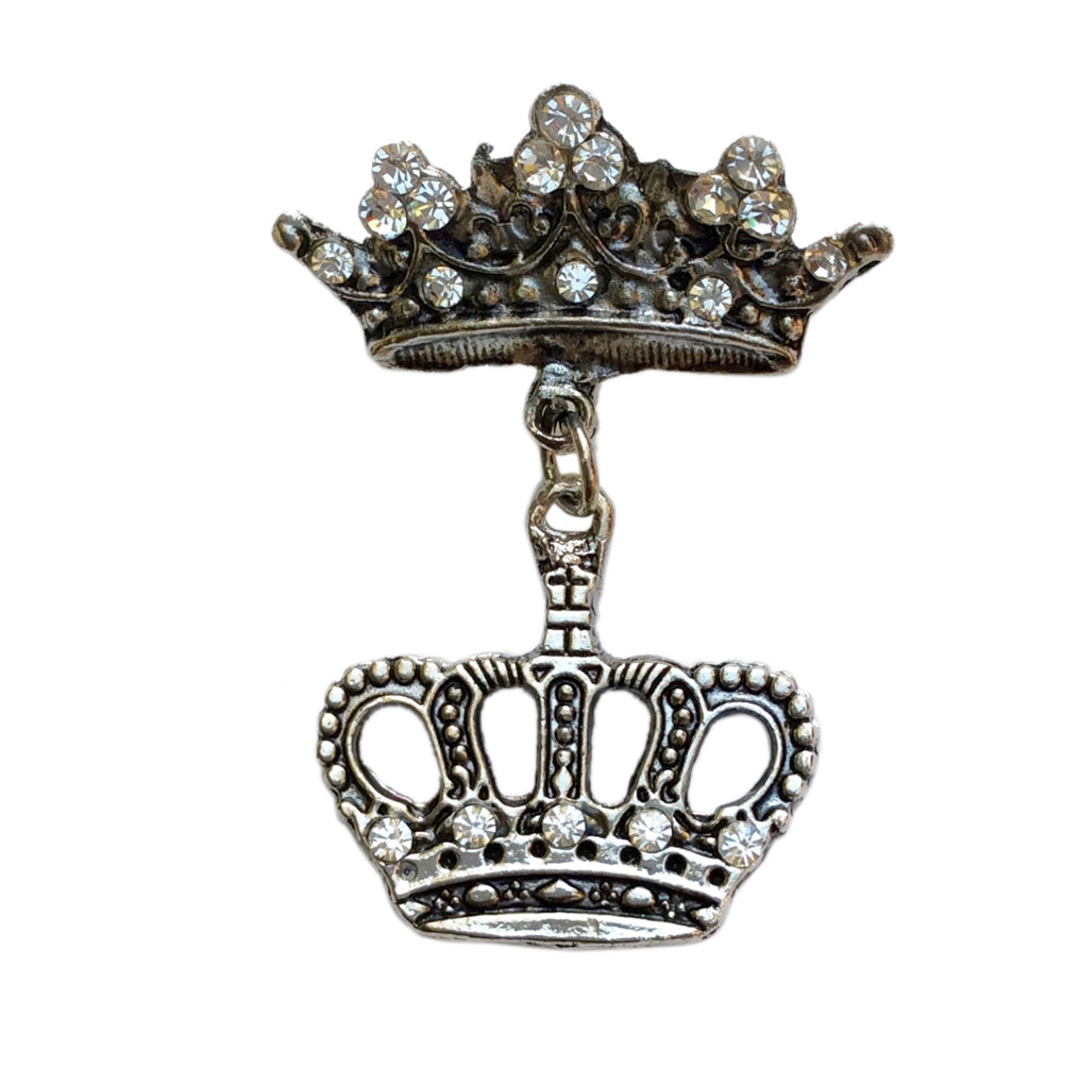 Double Crown Brooch