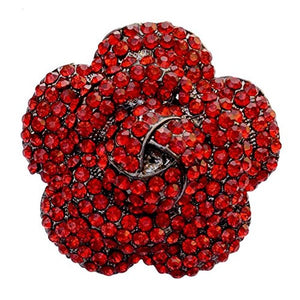 Cocktail Flower Finger Ring (Red)