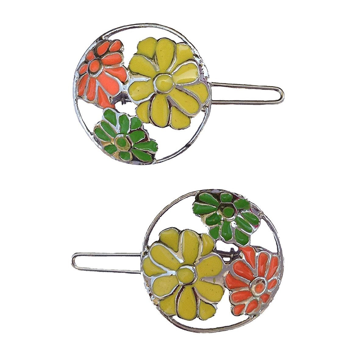 Neon Flower Round Wireclasp