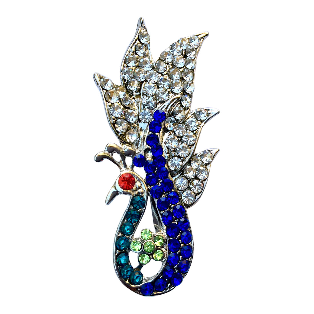 Sailing Peacock Brooch