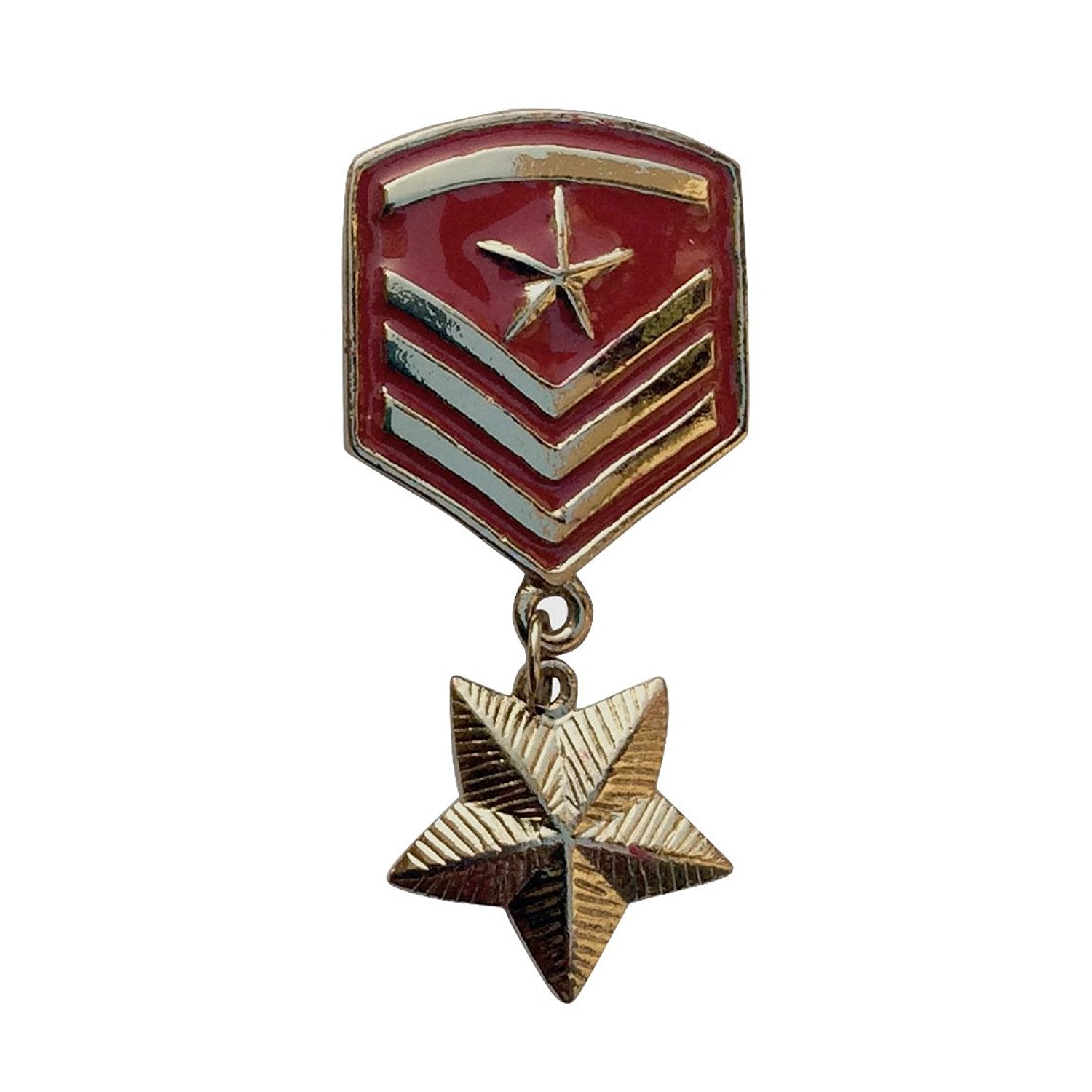 Star Badge Brooch (Red)
