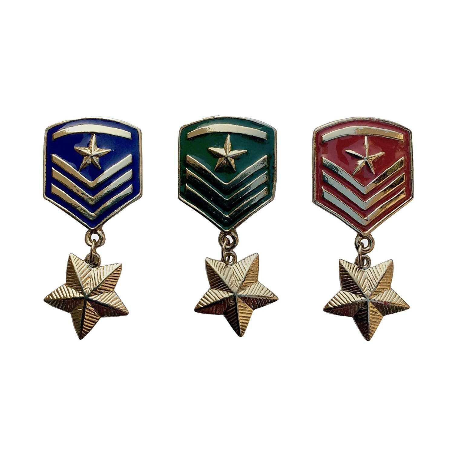 Set of Star Badge Brooches